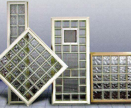 Glass block shop vinyl windows for Plastic glass block windows